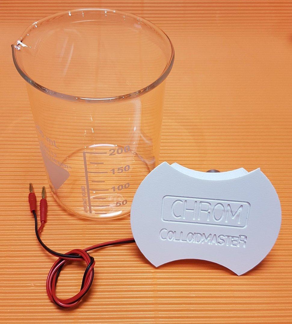 Elektroden Set Chrom, inkl. Becherglas