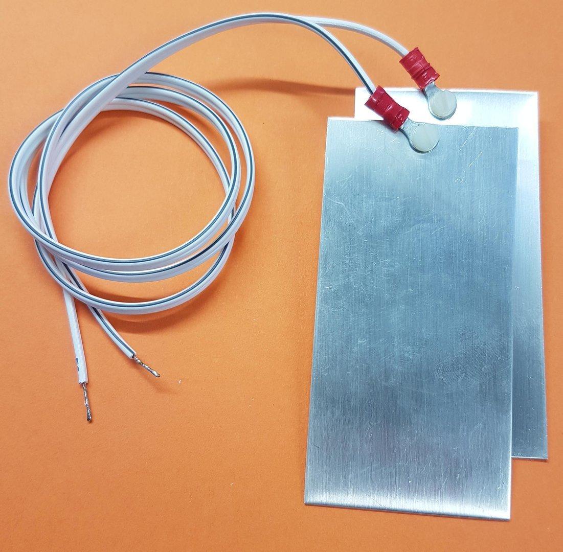 Elektroden Set Silber Platten 50mmx100mmx1mm